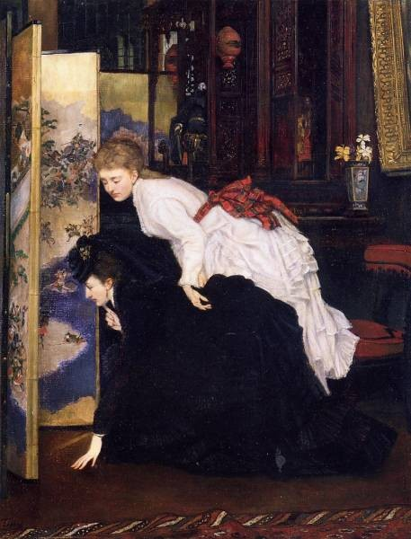 Tissot James Jacques Young Women Looking at Japanese Objects2